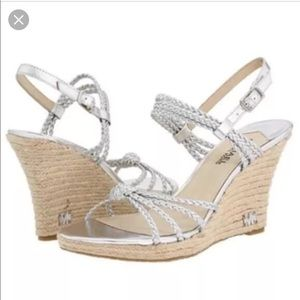 Michael Kors palm beach braided wedge sandals